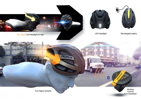 dora bike helmet options