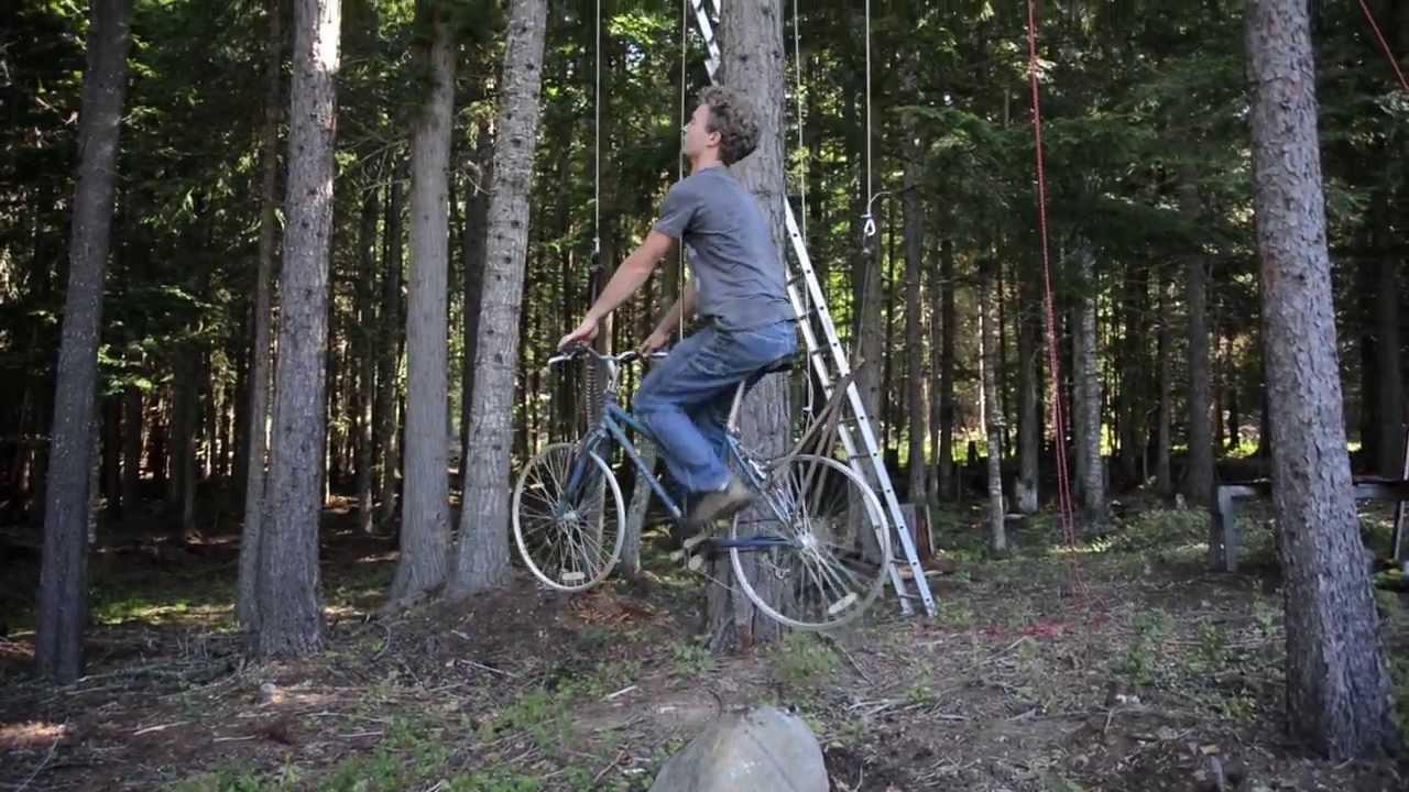 Bike Elevator For Treehouse (Videos)